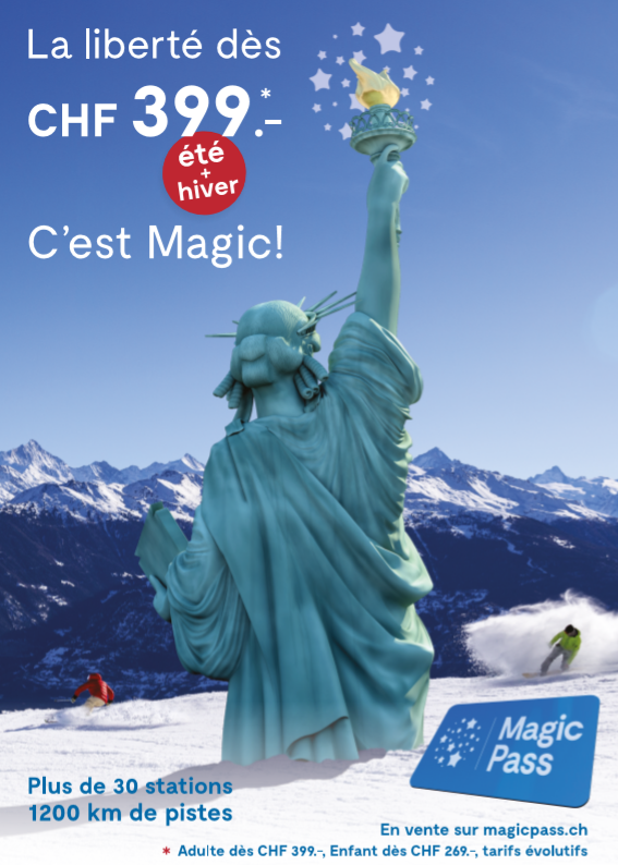 publicité Magic pass 2020
